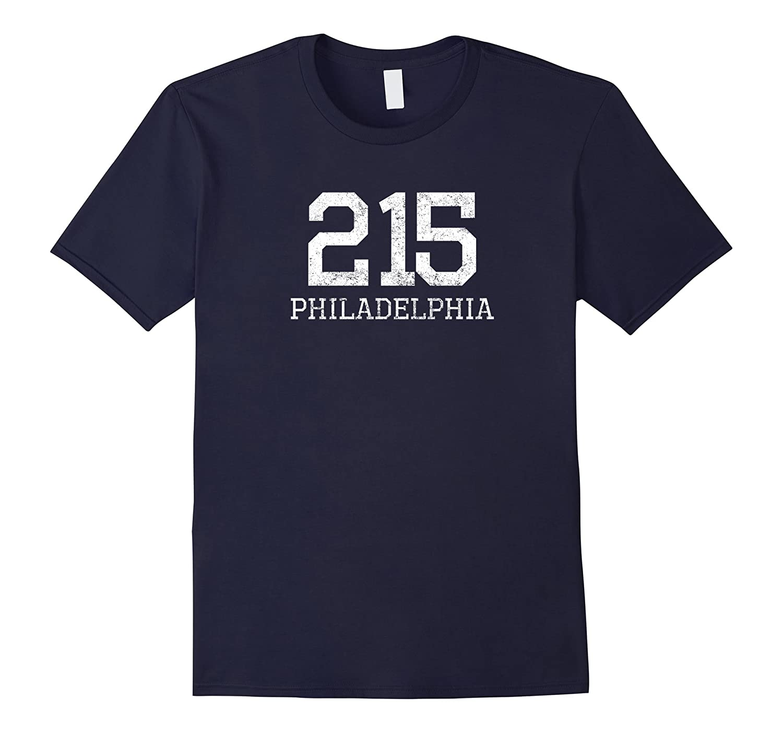 215 Philadelphia PA Area Code Vintage T-Shirt-TD