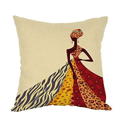 Amazon.com  Moslion African Girl Pillow d5ff319fd