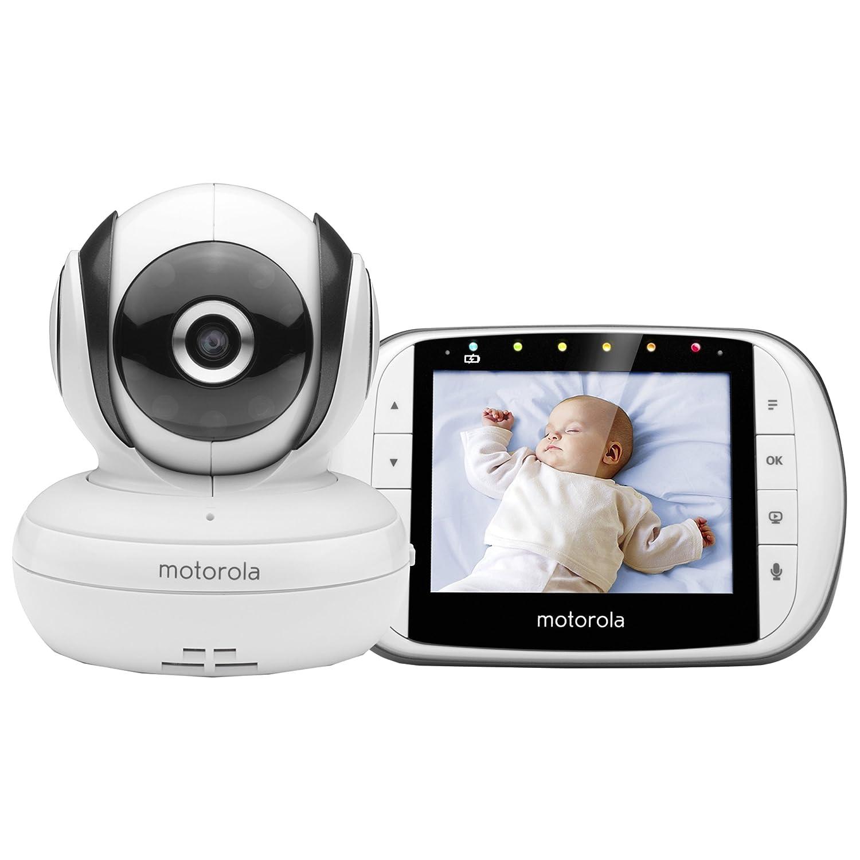 """Motorola MBP 36S/SC - Vigilabebés Vídeo con Pantalla LCD a Color de 3.5"""", Modo eco y Visión Nocturna, Blanco"""