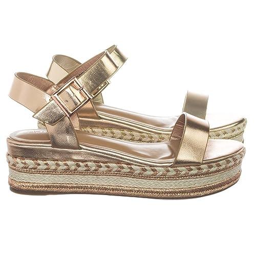 06bed062350 Aquapillar metallic braided jute rope espadrille jpg 500x500 Gold flat  platform sandals