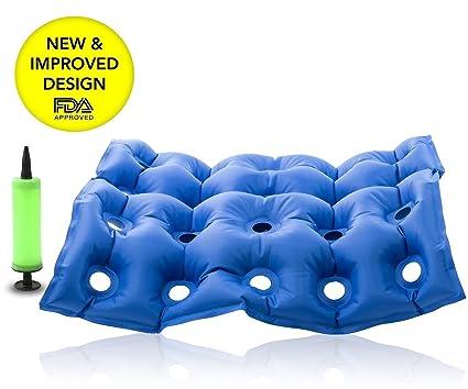 CareforYou® - Cojín inflable para silla de ruedas médicas, colchón de asiento antideslizante para evitar los ...