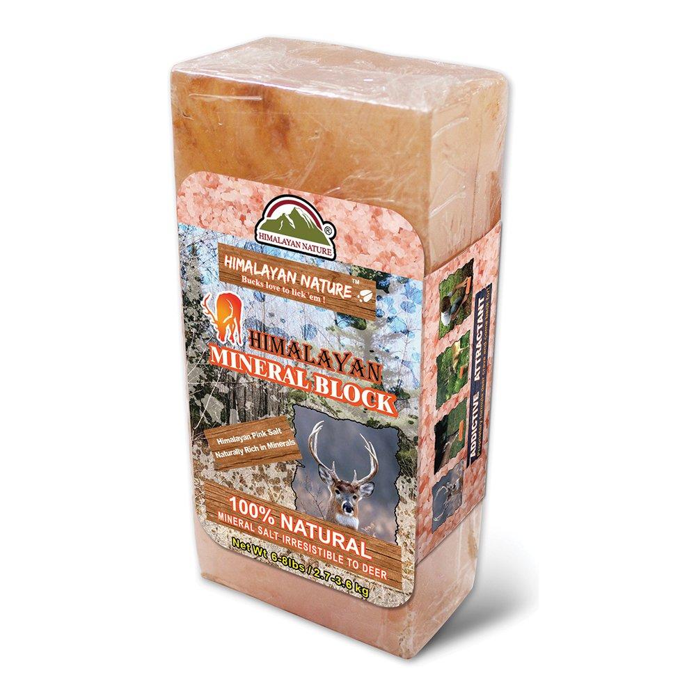 Himalayan Nature Deer Salt Brick 3-5 lbs, Natural Himalayan Rock Licking Salt Block for Animals, Deer Love to Lick by WBM