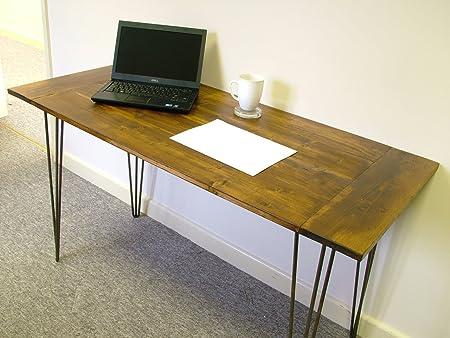 A medida Rústico hecho a mano mesa de madera hecho a mano ...