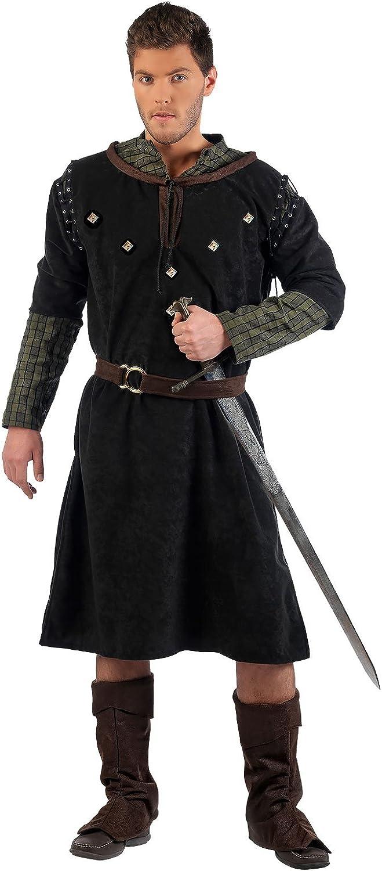 Limit Sport Knappe Recke Deluxe Medieval Hombres de Disfraces de Carnaval 4tlg cinturón de Borde de los Pantalones túnica