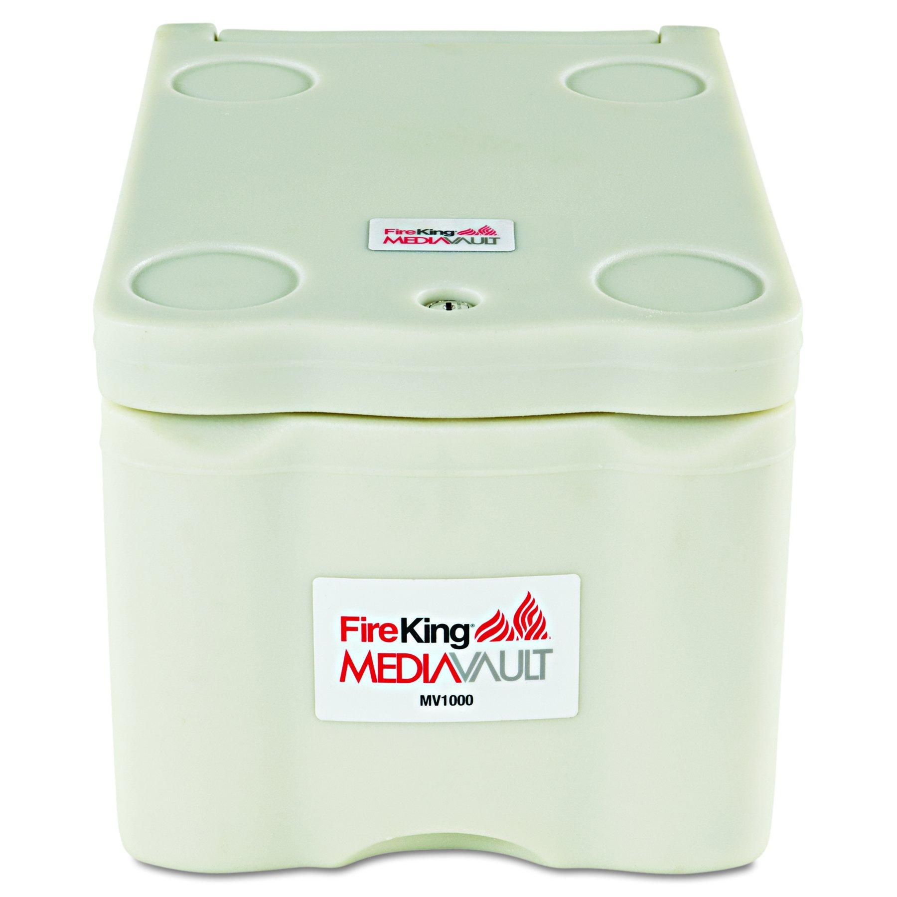 FireKing Stand Alone Media Vault Safe, 11-5/8'' x 10-1/2'' x 17-1/2'', White (FIRMV1000)
