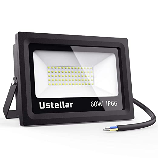 Ustellar 60W Foco LED, Proyector LED Exterior Impermeable IP66 ...
