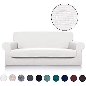 Amazon Com Sofa Cover With Separate Seat Cushion Cover 2 Pieces Set
