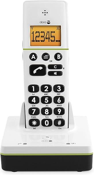 Doro PhoneEasy 336w, base&handset, 25 entradas, LCD, 300 m, 50 m, Blanco [importado de Alemania]: Amazon.es: Electrónica