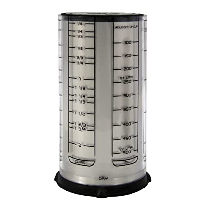 KitchenArt 55210 Pro 2 Cup Adjust A Cup, Satin