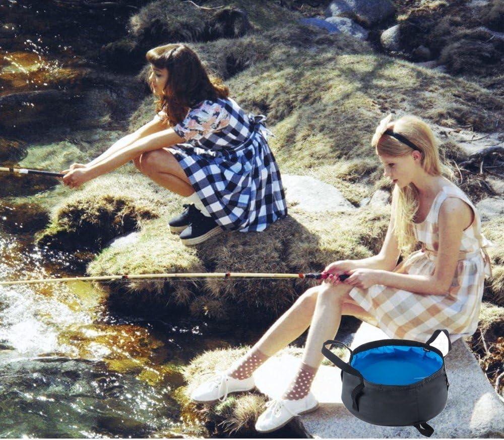 Bacino Pieghevole,Secchio Pieghevole Lavabo Portatile Leggero a Prova di perdite con Borsa per Il Campeggio da Corsa Lavaggio Pesca 12L