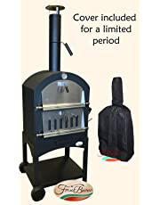 Forno Buono® NAPOLI OUTDOOR WOOD-FIRED/CHARCOAL FIRED PIZZA OVEN.- INCLUDES DELUXE COVER