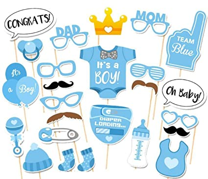 Amazon Com It S A Boy Baby Shower Party Photo Booth Props Kits On