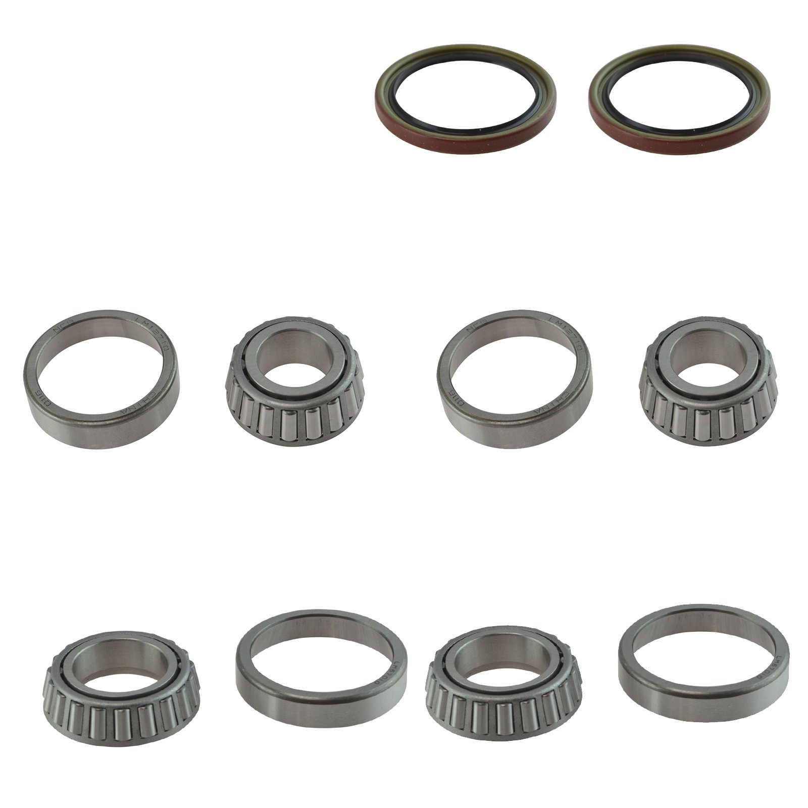 Front Inner Outer Wheel Bearing & Seal 6 Piece Kit for Chevy S10 Regal El Camino by TRQ