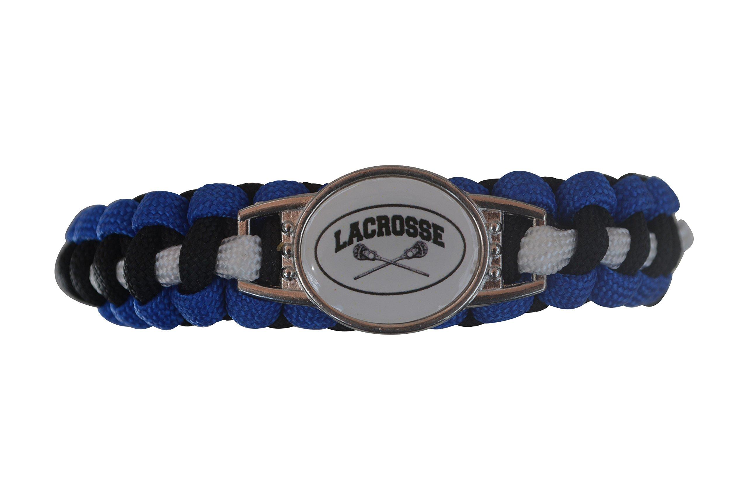 Infinity Collection Lacrosse Paracord Bracelet- Unisex Lacrosse Bracelet- Lacrosse Jewelry For Lacrosse Players by Infinity Collection (Image #1)
