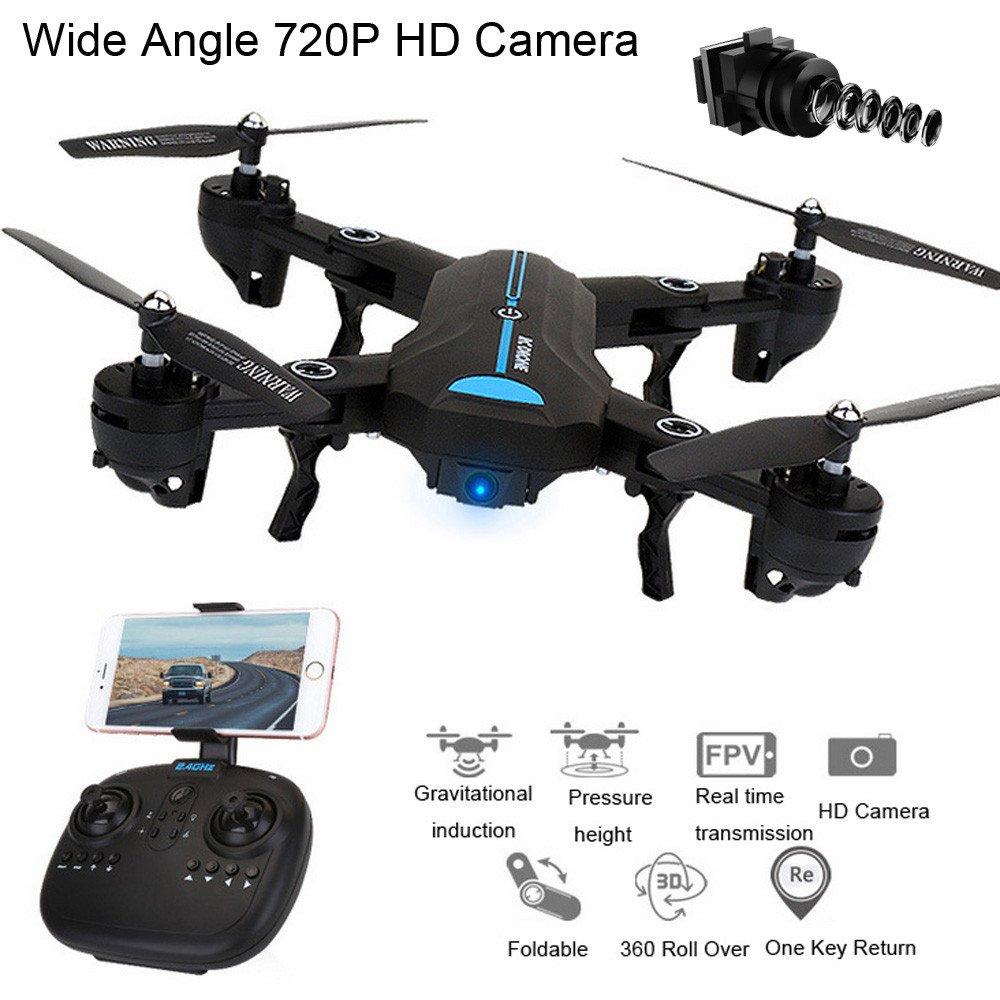 Kingko® Kingko® Kingko® A6HW WiFi FPV 720 P 120 ° FOV Kamera 2.4G Selfie RC Quadcopter Drone Spielzeug, WiFi Echtzeit Übertragung FPV-System, das Fotos aufnehmen und Videos für Ihren großen Speicher aufzeichnen kann bc7805