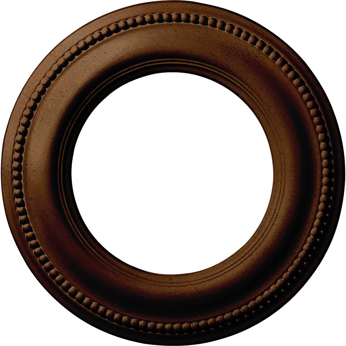 Ekena Millwork CM13BRRZS 13'' x 7-1/2'' x 3/4'' Bradford Classic Ceiling Medallion, Rubbed Bronze