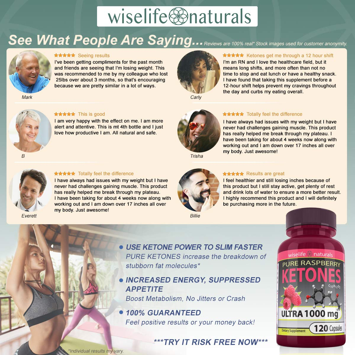 Best Fast Metabolism Slimming Pill - Pure Raspberry Ketones Fresh 1000mg Plus Max Burn, Lose Fat Quickly Proven Supports Rapid Ketogenic Diet Weight Loss, Works Naturally, Slim at Home No Side Effects by WiseLifeNaturals (Image #3)