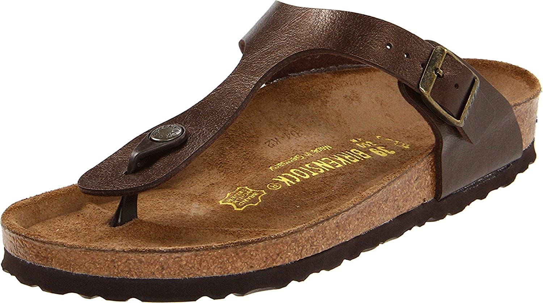 Hecho un desastre Skalk Eso  Amazon.com | Birkenstock Women's GIzeh Thong Sandal | Flip-Flops