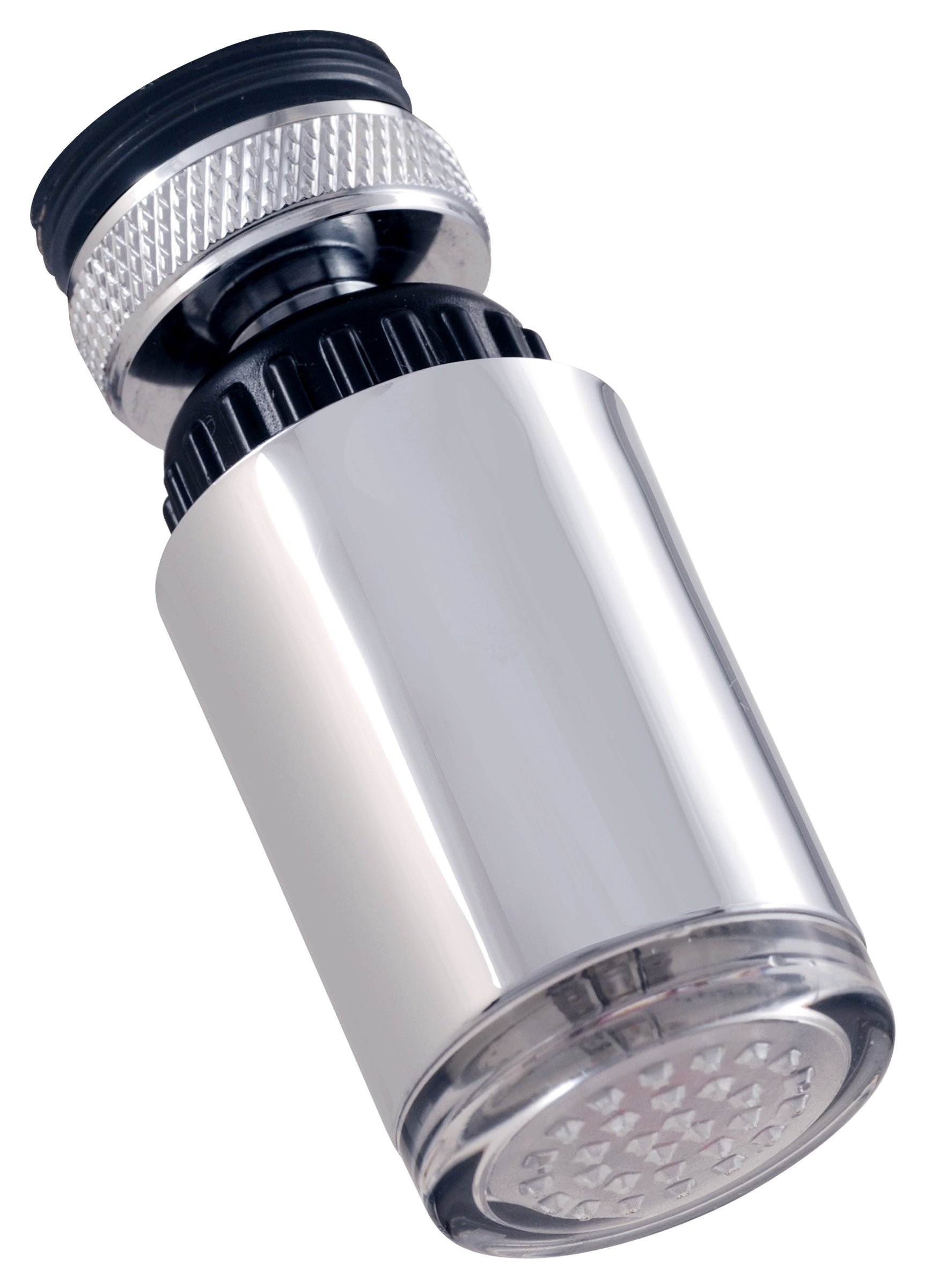 LDR 530 2165TL LED Faucet Aerator Red to Blue Temperature Indicator Light for Hot or Cold, Chrome by LDR Industries