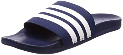 53b889697 adidas Adilette Cloudfoam Plus Stripes, Men's Slides, Blue (Dark Blue/Ftwr  White