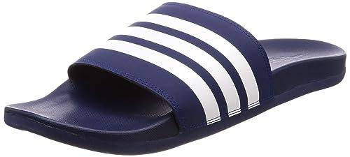 52522cd8f74 Adidas Men s Adilette Comfort Ftwwht Dkblue Sandals-10 UK India (44 2