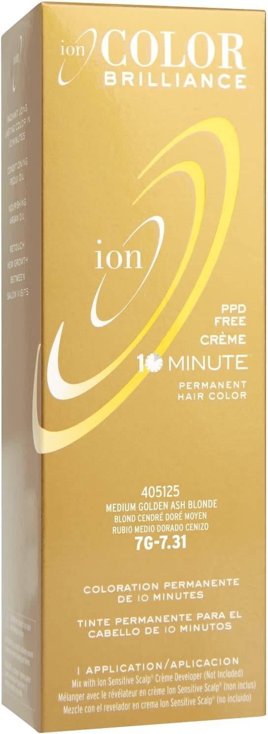 Ion Color Brilliance Permanent Creme 10 Minute Hair Color 7G ...