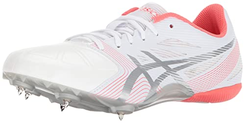 Asics Women's Hyper-Rocketgirl SP 6 Cross Country Spike Shoe, White/Silver/Diva Pink, 9.5 M US