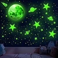 Glowing Stars for Ceiling, 1008 PCS Glow in The Dark Stars,Space Wall Decals Solar System Galaxy Planets Wall Stickers…