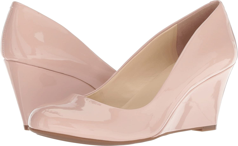 Jessica Simpson Footwear Women Sampson Wedge Pump B078JXRLWN 9.5 B(M) US|Nude Blush Patent