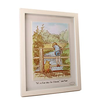 Disney Classic Winnie The Pooh Heritage Wall Art Decor Framed Print  U0026quot;Fine Day For Part 72