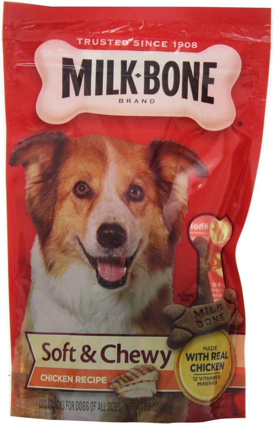 Milk Bone Dog Treats Chicken Flavor 5.6 Oz, Pack of 2