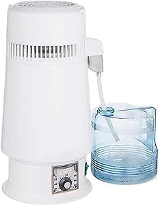 Anhon Destilador de Agua de Acero Inoxidable 750W Destilación de Alcohol Destilador de Alcohol de 4 L con Botella de ...