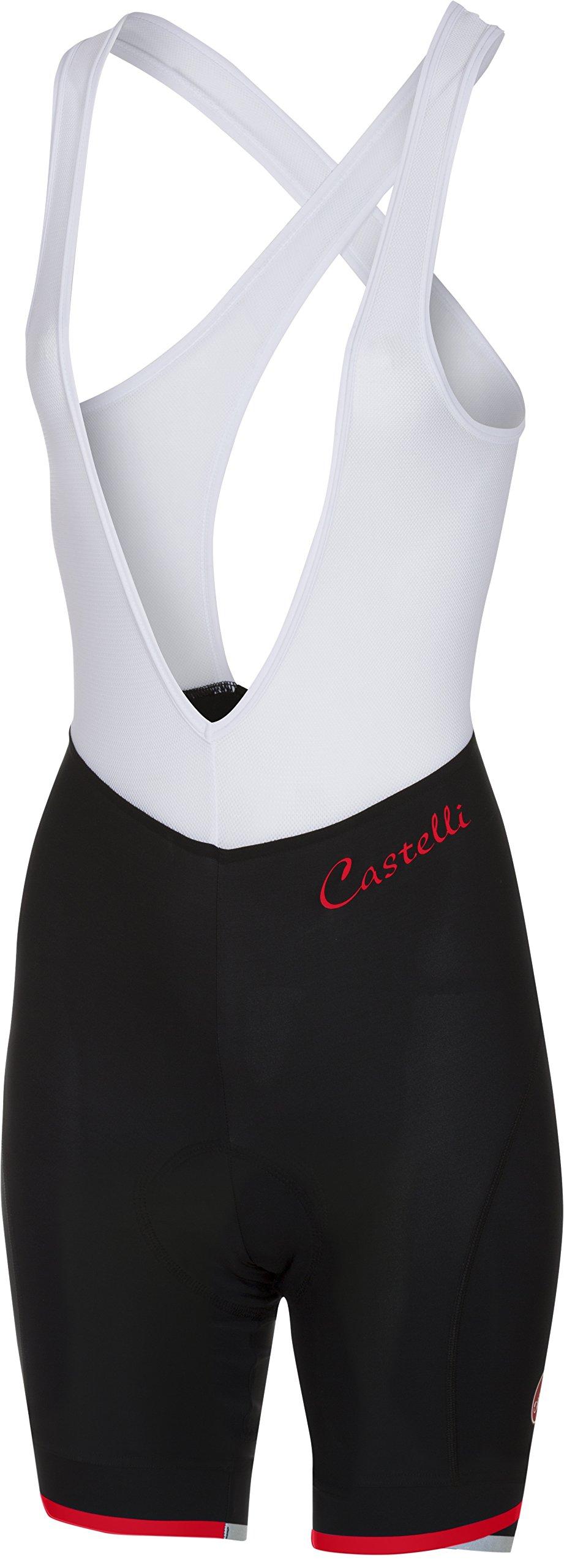 Castelli Vista Bib Short - Women's Black/Red, XS