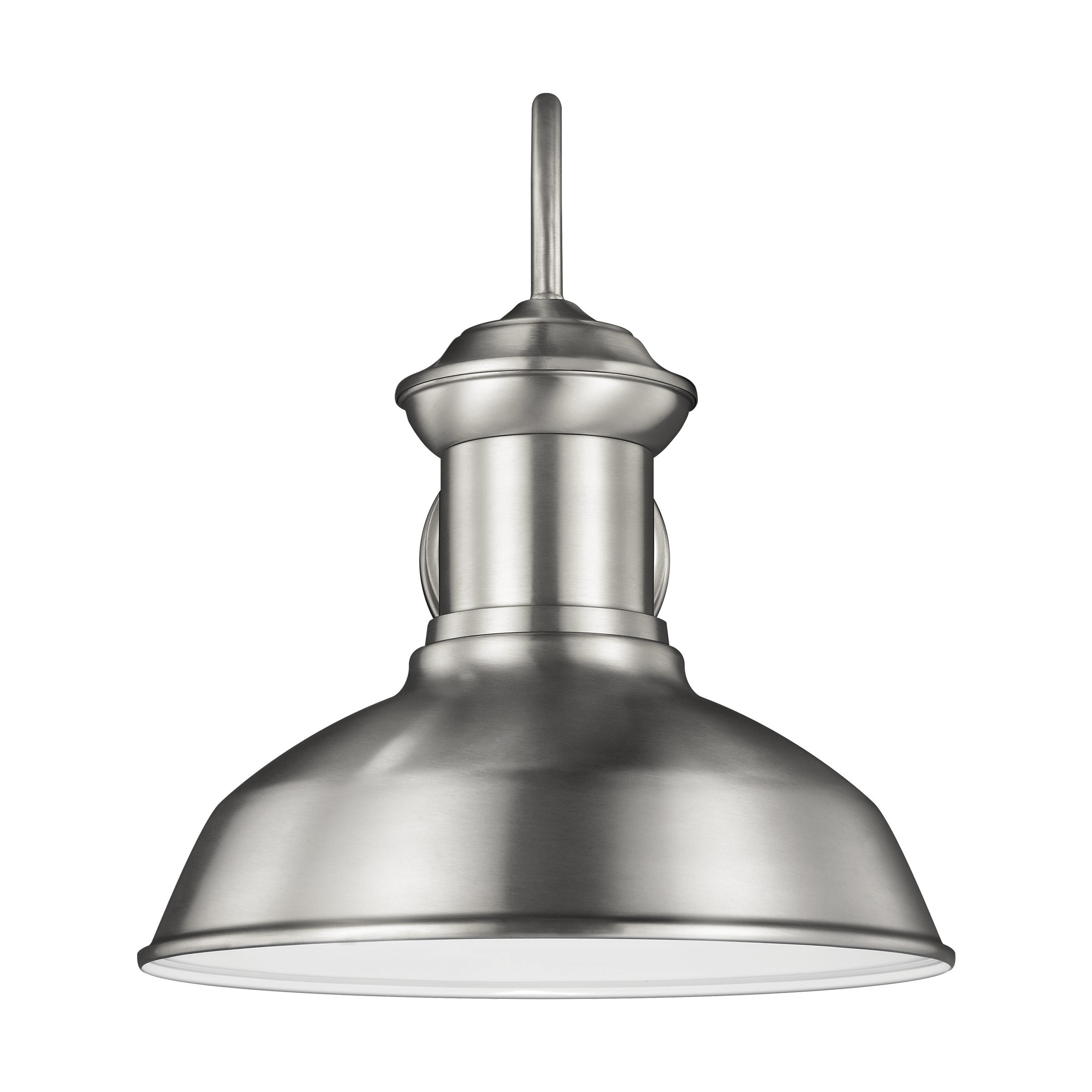Sea Gull Lighting 8647701-04 Fredricksburg One-Light Outdoor Wall Lantern, Satin Aluminum Finish