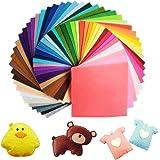Jingxu 60 Colori Feltro e Pannolenci Fogli DIY Tessuto Poliestere per Cucire Mestieri Stoffa di Cucito Bricolage Tessuto Patchwork 15cmX15cm