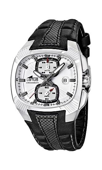 Lotus 15753/1 - Reloj cronógrafo de Cuarzo para Hombre con Correa de Piel, Color Negro: Amazon.es: Relojes