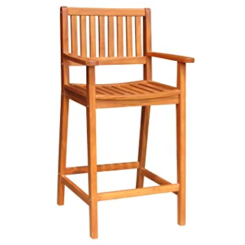 International Concepts Bar Height Stool With Arms