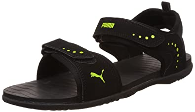 Men s Black and Lime Punch Athletic   Outdoor Sandals - 8 UK India ... 41a0d5054