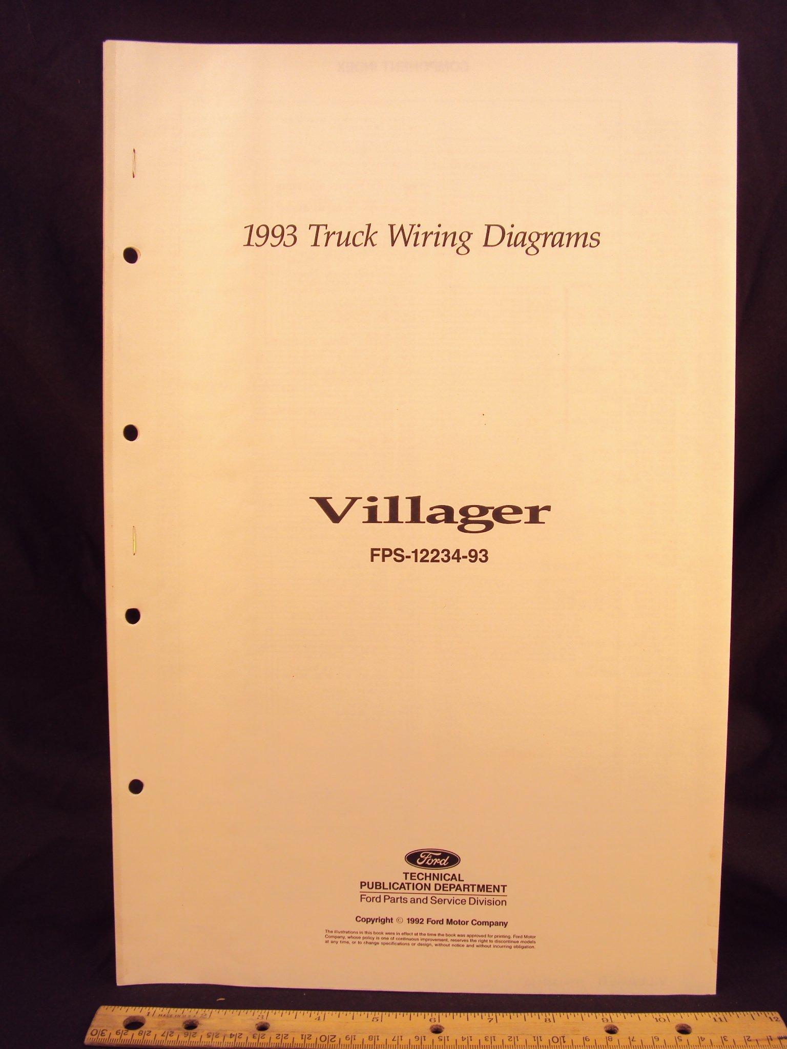 [DIAGRAM_38EU]  1993 MERCURY Villager Mini Van Electrical Wiring Diagrams / Schematics:  Ford Motor Company: Amazon.com: Books | 1993 Mercury Villager Wiring Diagram |  | Amazon.com