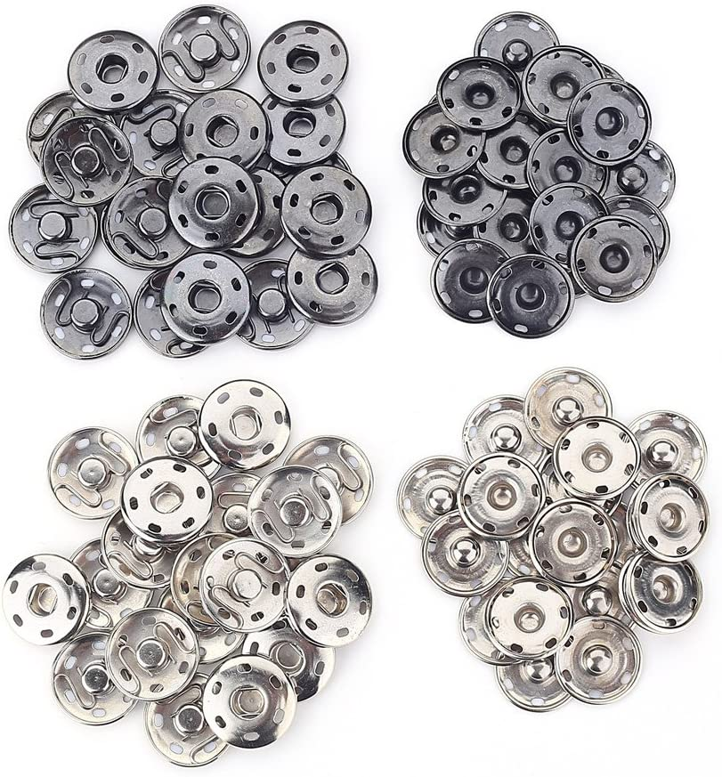 21mm 40 Sets Metal Snap Fastener Press Stud Sewing Button For Dress Clothing Bags