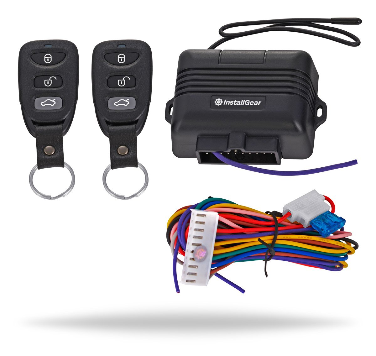 Installgear Keyless Entry System Trunk Pop Release Central Locking Relay Wiring Diagram With Two 3 Button Remotes Car Electronics