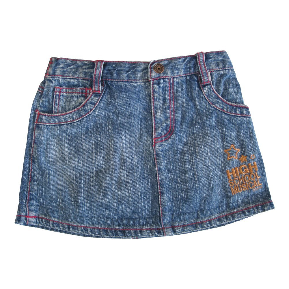 Disney Little Girls Blue High School Musical Star Embroidery Denim Skirt 6