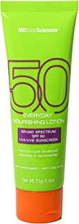 product image for MDSolarSciences Everyday Nourishing Lotion SPF 50 | Lightweight, Fast-Absorbing Daily Face + Body Lotion Brightens, Protects & Hydrates Skin | 2.5 Oz