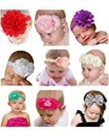 Qandsweet Baby Girl's Beautiful Headbands Elastic Hairband for Photograph
