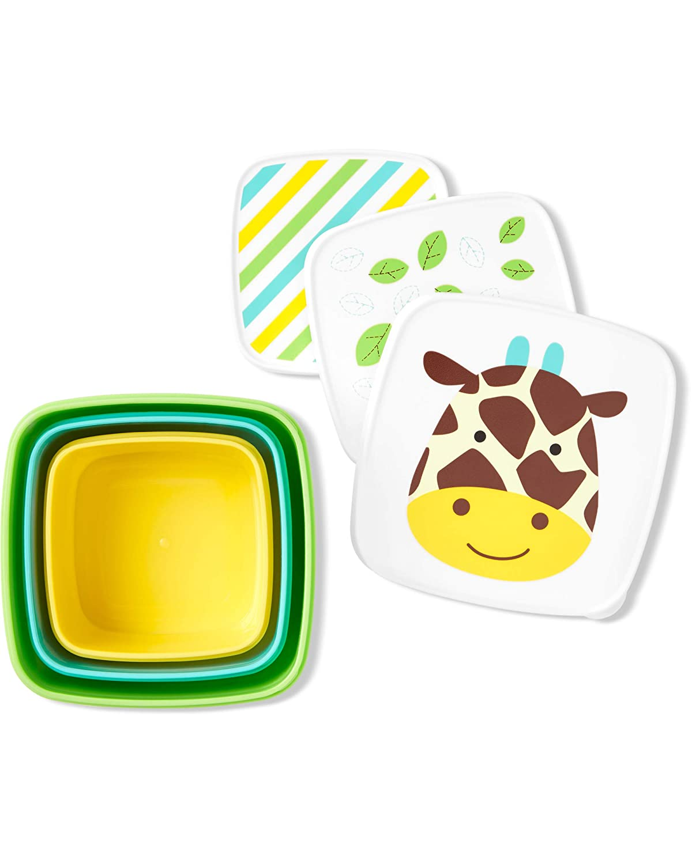 Skip Hop Toddler Food Storage Snack Box Set, Giraffe