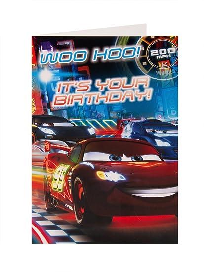Tarjeta de cumpleaños de Cars Film de Disney: Amazon.es ...