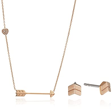 Amazon fossil chevron studs and arrow gift set pendant necklace amazon fossil chevron studs and arrow gift set pendant necklace rose gold jewelry mozeypictures Images