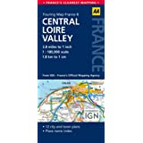 AA Road Map Central Loire Valley (AA Touring Map France 08)