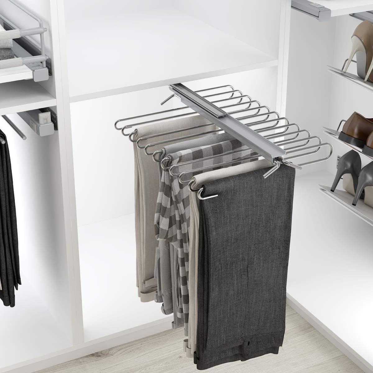 Casaenorden - Pantalonero extraíble Reversible - 9 ó 11 Pantalones - Perchero para Pantalones - para 9 Pantalones: Amazon.es: Hogar