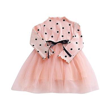 1d00ebf9cc8a Muium Baby Girls PrincessTutu Dress Toddler Infant Long Sleeve ...